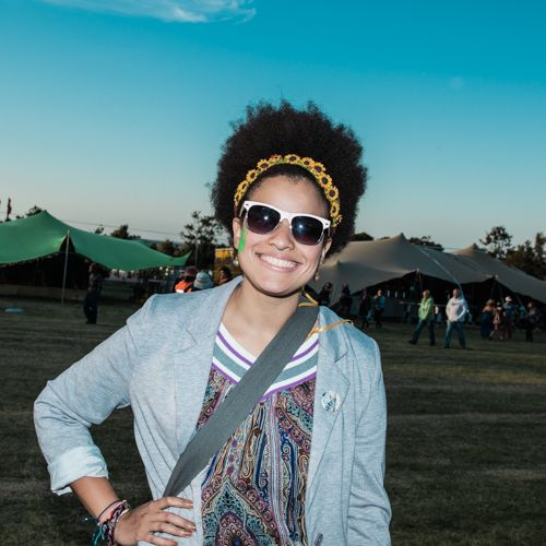 Afro daisies crown at Rocking The Daisies 2013