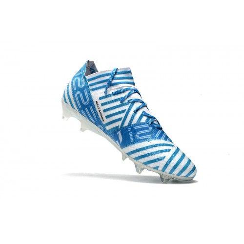 Adidas Nemeziz 17.1 FG - Bueno Adidas Nemeziz 17.1 FG Blanco Azul Botas De Futbol