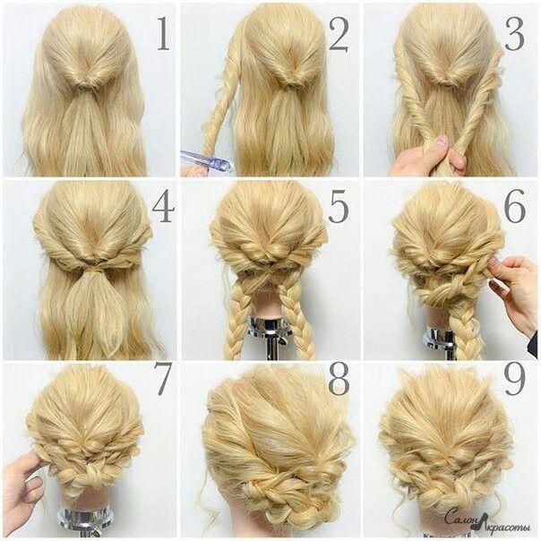 Easy Frisuren 2 Braided Hairstyles Updo Hair Styles Curly Hair Styles