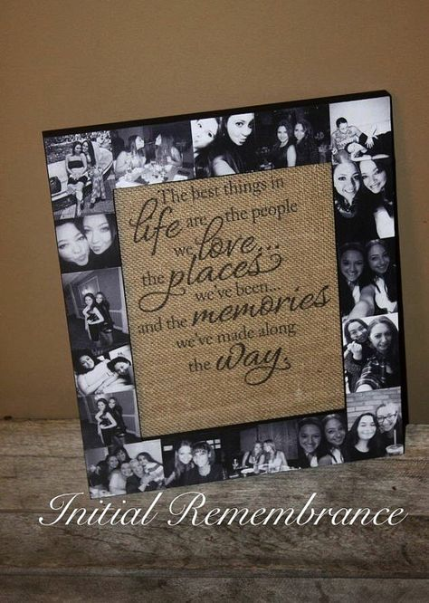 Picture Frame Photo Frame best friend Gift by InitialRemembrance