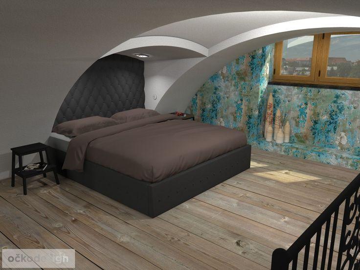 Polstrovaná postel na zakázku