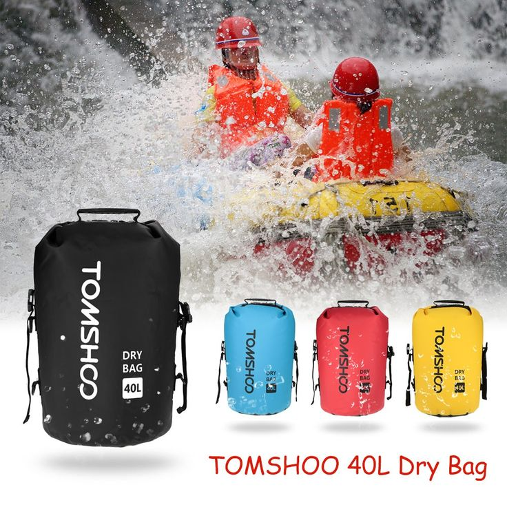 High Quality TOMSHOO 40L Outdoor Water-Resistant Dry Bag Sack Storage Bag for Travelling Rafting Boating Kayaking Canoeing Camping Snowboarding from tomtop.com