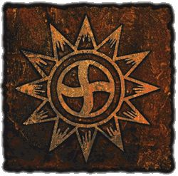 Choctaw symbol for Continual Happiness Through All Stages of Life. The center circle represents The Four Ages: Infant, Youth, Middle and Old Age...Sun Symbols Happiness Sun Rays = Continual The symbol all together as one = Continual Happiness Through All Stages of Life