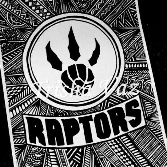 Toronto Raptors Logo  Indian Edition by TrishaCreations on Etsy, $25.00