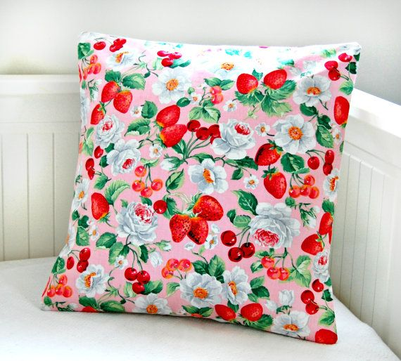 red and pink strawberries cherries and roses by LittleJoobieBoo, £14.90