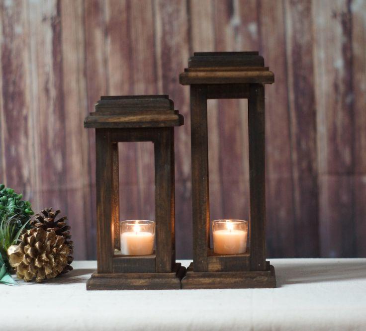 Reclaimed Wood Lanterns, Rustic Thanksgiving Decor, Rustic lantern, Wooden lantern, Thanksgiving Table, Rustic Home Decor, Wood Lantern by GFTWoodcraft on Etsy https://www.etsy.com/listing/480988173/reclaimed-wood-lanterns-rustic