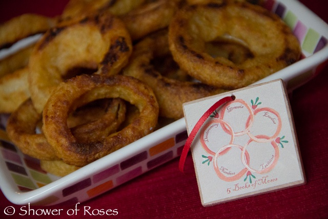 Shower of Roses: Our Twelve Days of Christmas Dinner Party on Twelfth Night!  Five Golden Rings