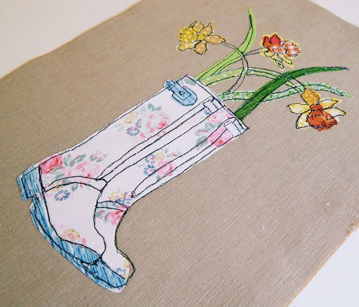Freehand machine embroidery and appliqué, learn to make your own textile art