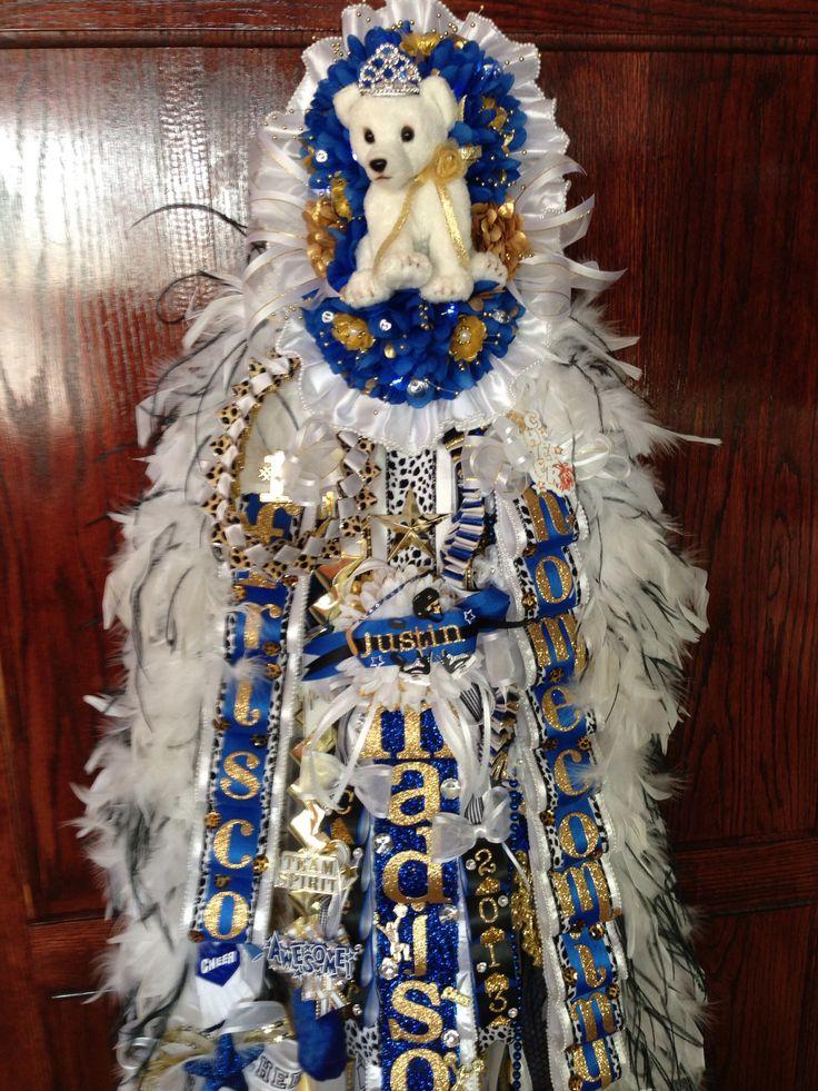 Kitty Cat mum #homecoming #blue #gold #white