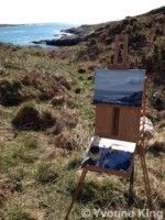 Plein air Painting 'Look to the West' by Yvonne King It's so great to be out painting regularly again…by the sea…in the sun! Well, sometimes in the sun and then it's magic, the light and shadows.