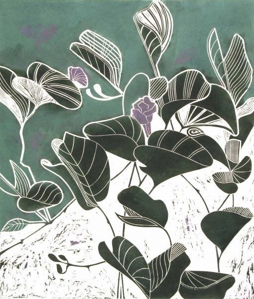 Creeper by Tessa Charles Linocut print