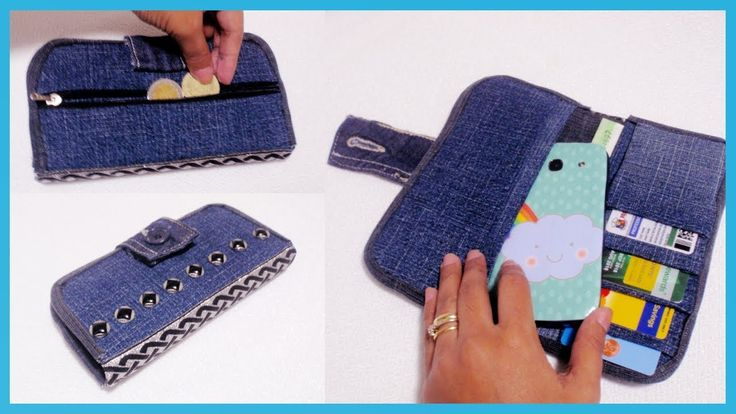 DIY Denim Wallet From Old Jeans  NO SEW *How to Make Your Own Wallet at ...