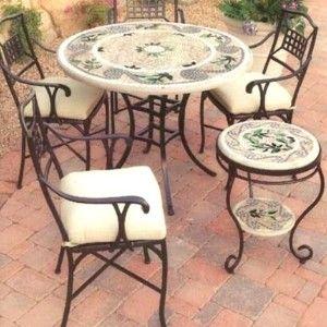 wrought iron garden furniture plans