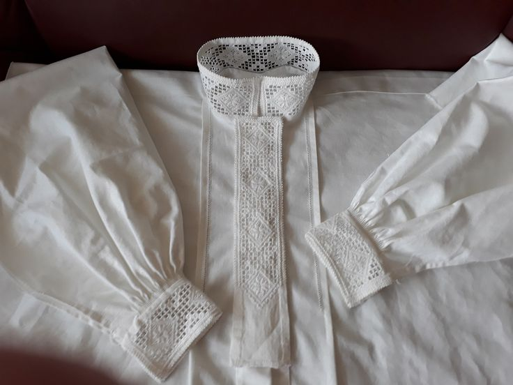 (3) FINN – Hardangerbunad - skjorte