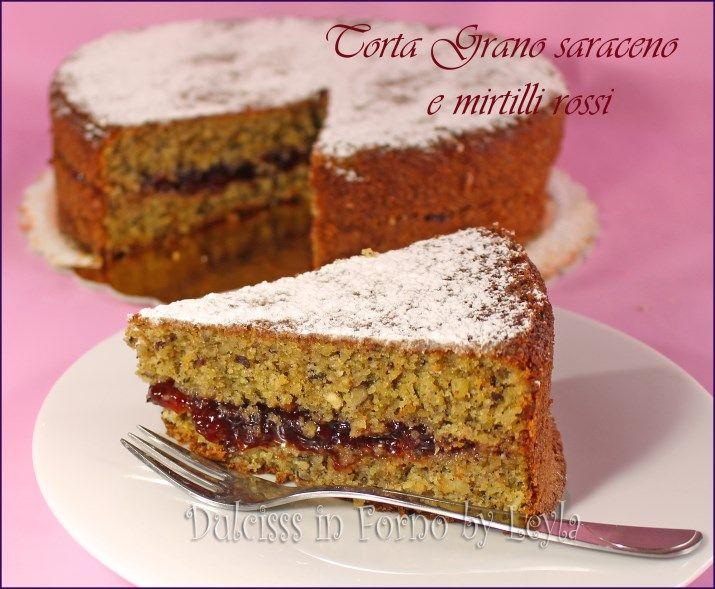 La torta grano saraceno e mirtilli rossi è tipica della mia regione: l'Alto Adige. Torta morbidissima e particolare, Ecco la ricetta.