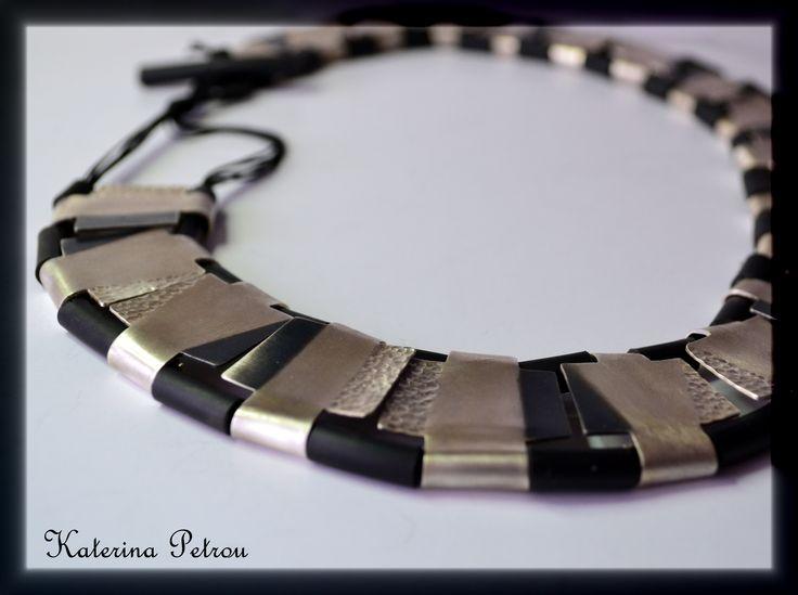 """RHYTHM""- Handmade Gradient Necklace- Silver 950 https://www.facebook.com/katpetrou.jewellery"