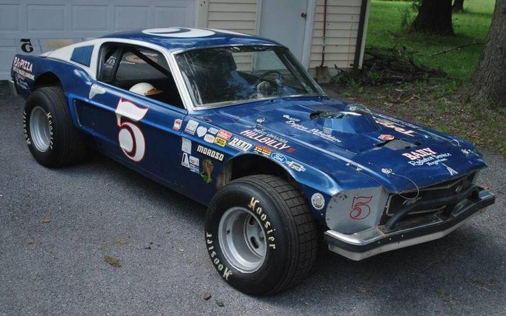 Vintage Dirt Track Racer 1968 Mustang Fastback Mustang