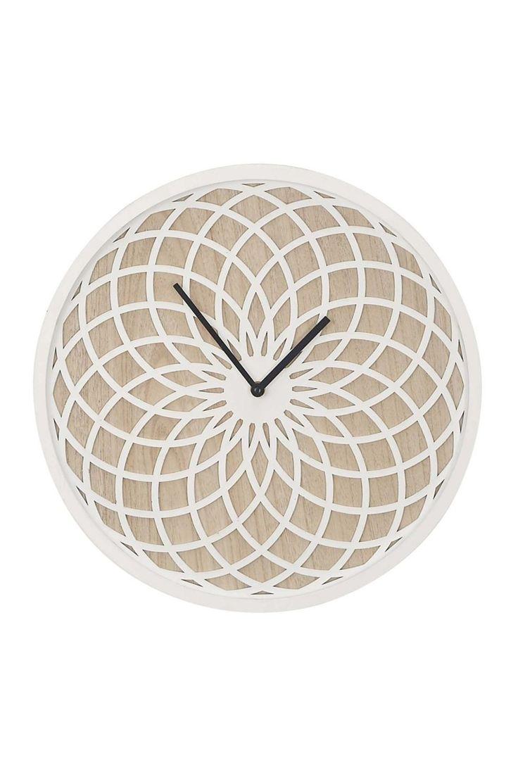 UMA Multi Wood Round Wall Clock