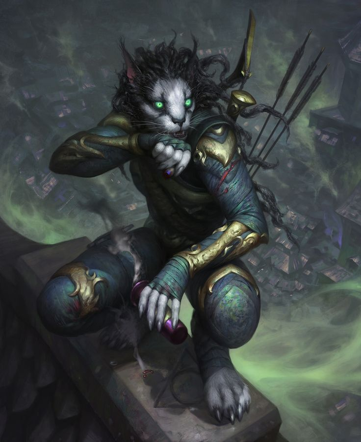 """we-are-rogue: """"  Narcotic Clarity, by Arthur Bozonnet (fanart piece of a Khajiit thief from The Elder Scrolls) """""""