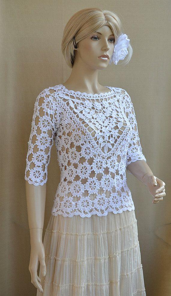 Blouse crochet lace