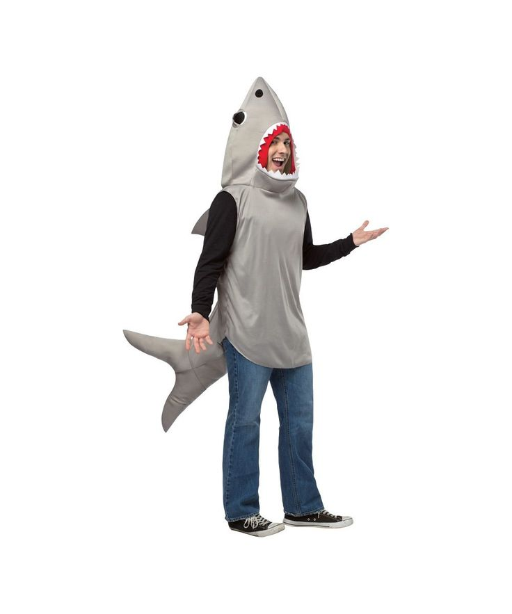 The Sand Shark Unisex Costume will help you celebrate Shark Week or Halloween in a comedic way.  This Shark Disguise pays homage to the Selachimorpha Species.