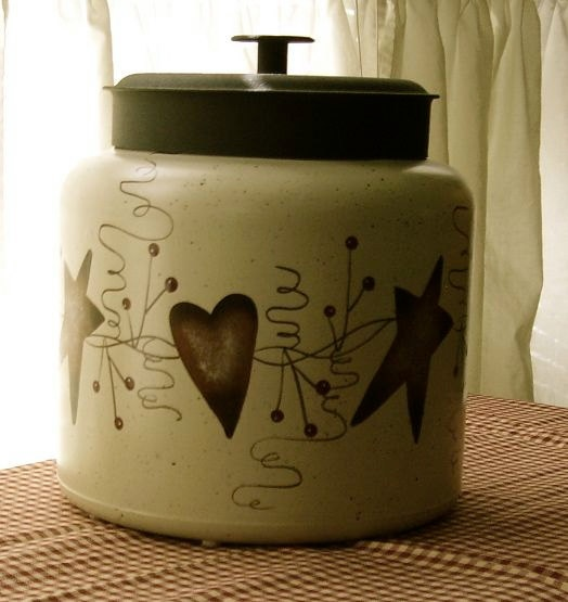 Primitive country rusty tin heart star cookie by