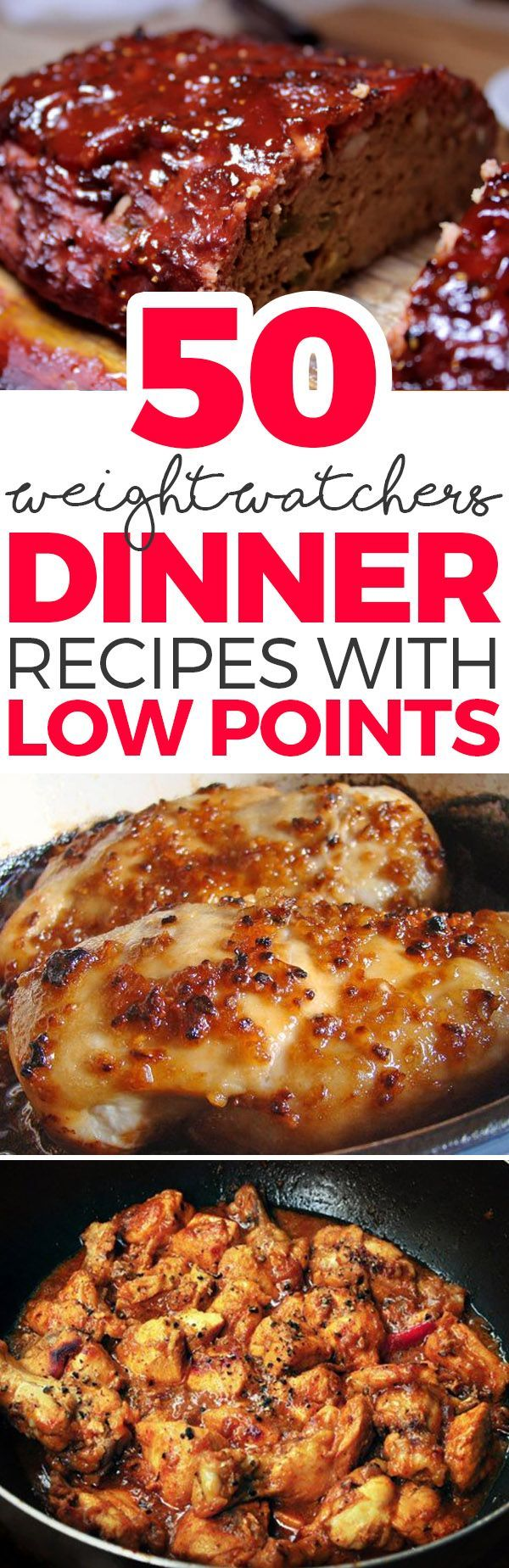 nice 50 Weight Watchers Dinner Recipes with Low Points...