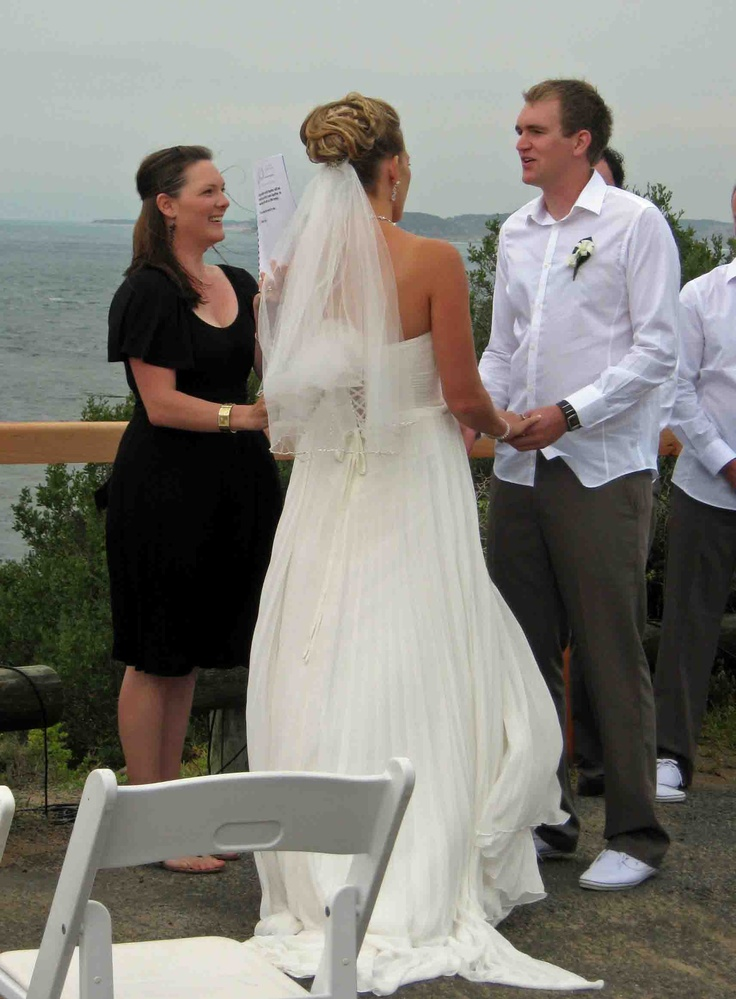 A stunning Wedding Ceremony at Point Lonsdale Lighthouse.....glorious views, shining sun, fresh air!...www.nicolepenning.com.au