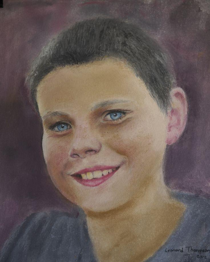 Soft pastel portrait of my Grandson Jake.