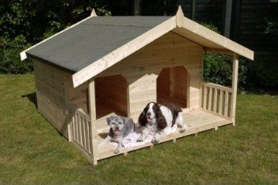 Large Double Dog House