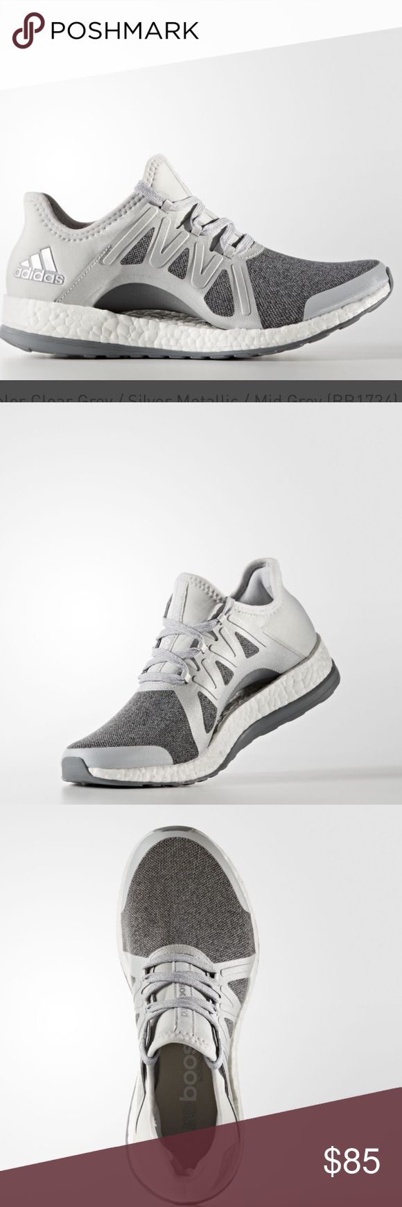 NWOB Adidas Pureboost Xpose. Sz 8.5 NWOB Adidas Pureboost Xpose. Sz 8.5. Silver, grey and white tone. Never worn. Reposhing- didn't like the style on me. Very comfy when tried on and is true to size. 💕 adidas Shoes Athletic Shoes