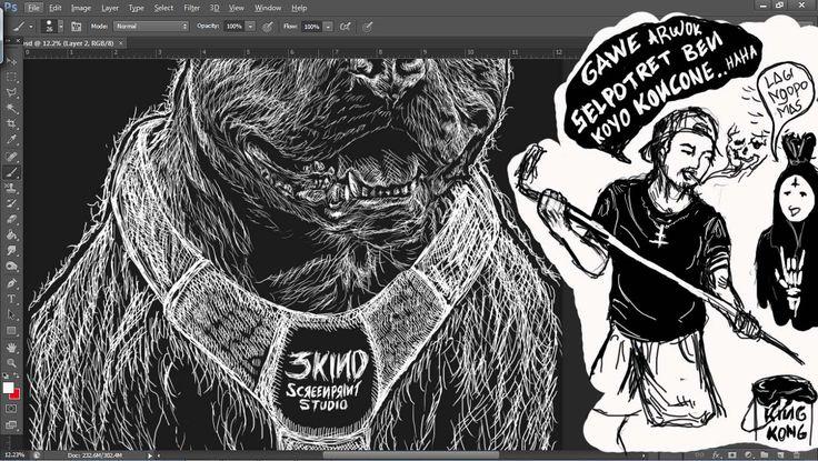 proses kerja #3kindstudio #illustrasi #sablon #basukiadx