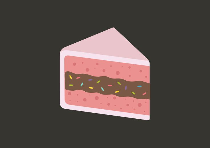 Pink Cake Vector Illustration