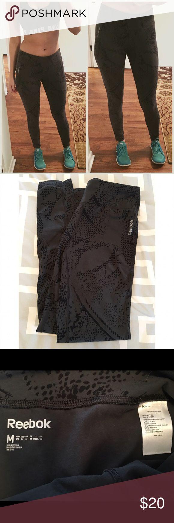 • reebok yoga pants • NWOT reebok gray yoga pants. Size medium 90% cotton 10% spandex.  ❌No trades 🚫🚬 Non smoking home 📬 Same/next day shipping Reebok Pants
