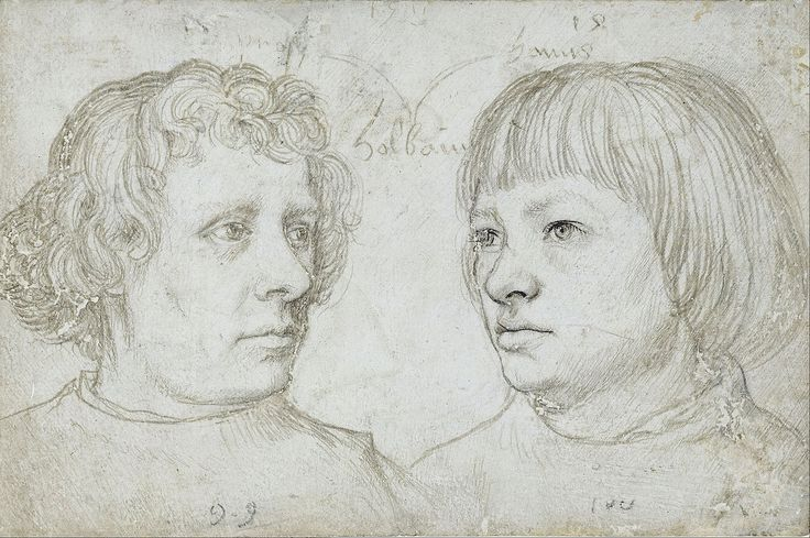 Hans Holbein the Elder - Ambrosius and Hans, the sons of the artist.