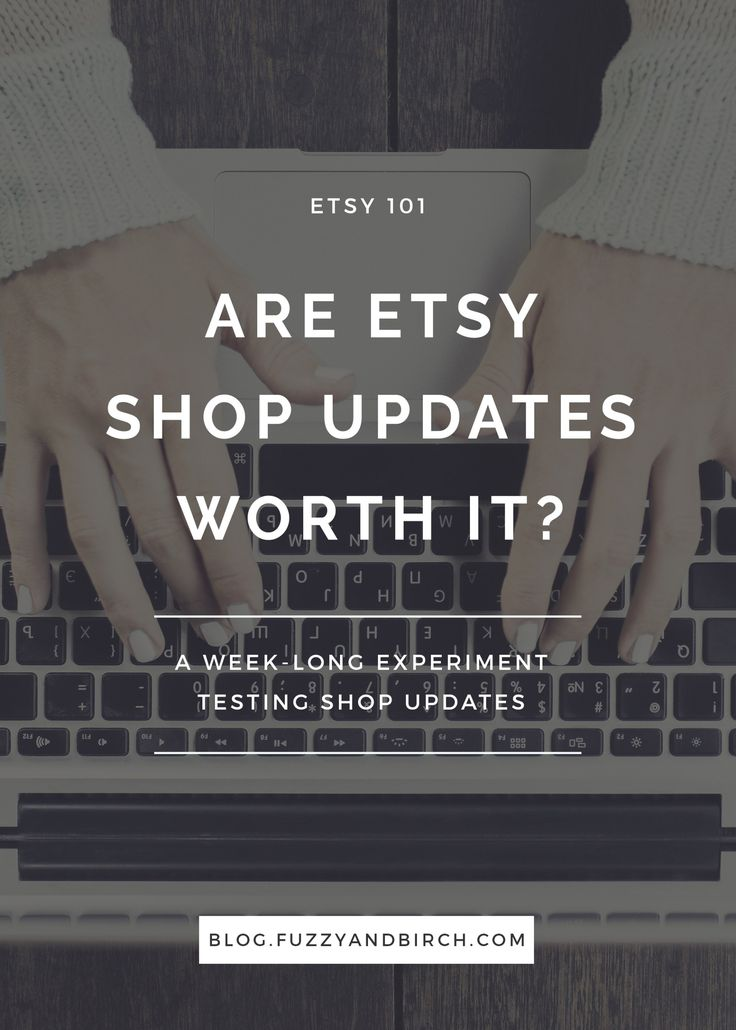Etsy Shop Updates - are they worth it? Etsy shop updates are kind of like that girl who showed up at your party, even though you didn't invite her…none of us were expecting her and we're all a bit annoyed about it. But instead of just rejecting shop updates all together, I decided to put aside my elitist Etsy temperament for a minute, and try rooting for the underdog. So, for one week (against my better judgement...) I tried to make friends with shop updates. Let's see what happened!