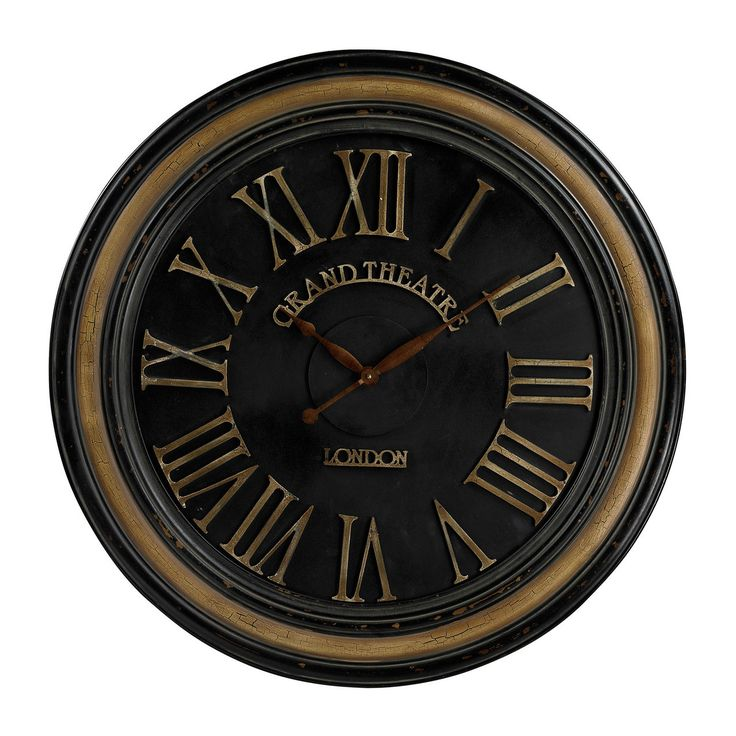 Large Clock With Distressed Hand Painted Frame 130 006. Traditionelle  WanduhrenGroße ...