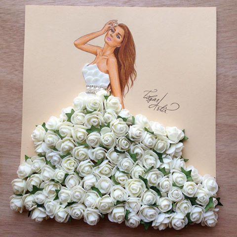 Bridal gown by Edgar Artis
