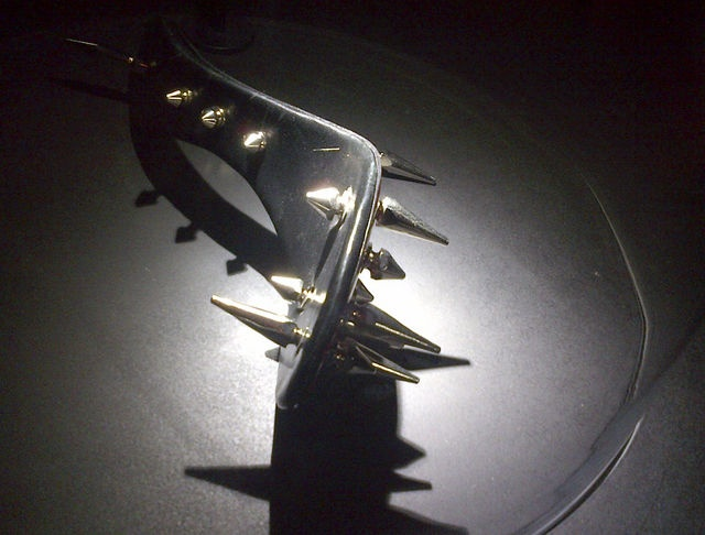 A spiked slipper designed to be seen, not worn, in a book and exhibition that the French shoemaker Christian Louboutin worked on with filmmaker David Lynch.