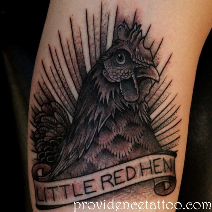 Hen Tattoo by Dennis M Del Prete #tattoo #hen #chicken #blackandgrey