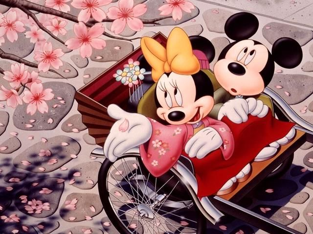 Disney-Spring-Minnie-and-Mickey-Mouse-in-Japan-Wallpaper.jpg (640×480)