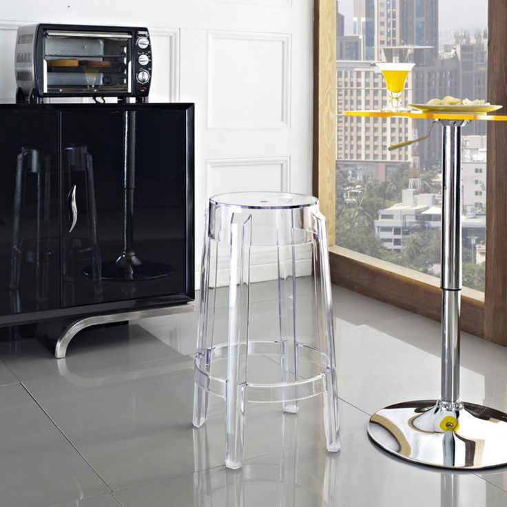 Modway Casper Acrylic Counter Stool - Clear - EEI-171-CLR