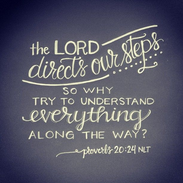 proverbs 20:24 | hand lettering artwork by Andrea Howey via www.instagram.com/andrearhowey