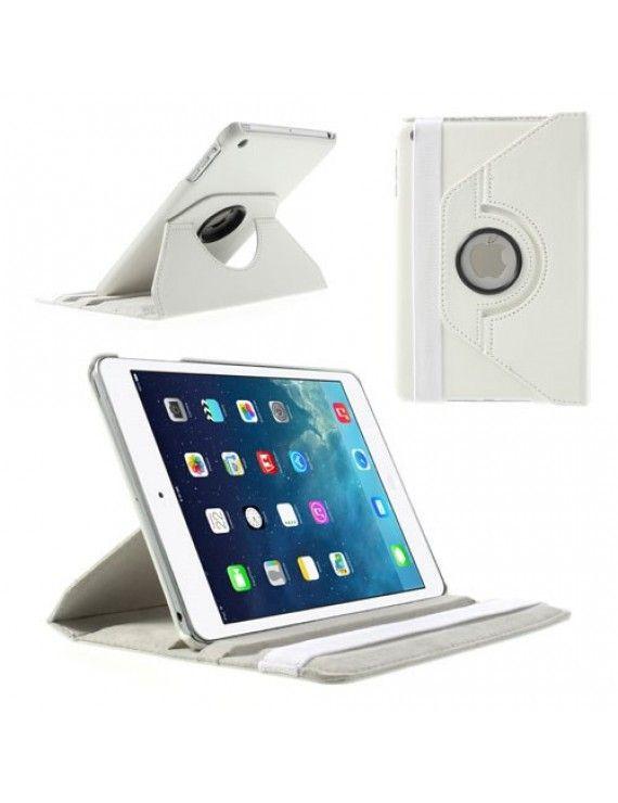 Περιστρεφόμενη Δερμάτινη Θήκη Βιβλίο με Βάση Στήριξης για iPad Mini / iPad Mini 2 - Λευκό