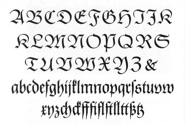 Frankfurt Blackletter Alphabet Calligraphy Google Search