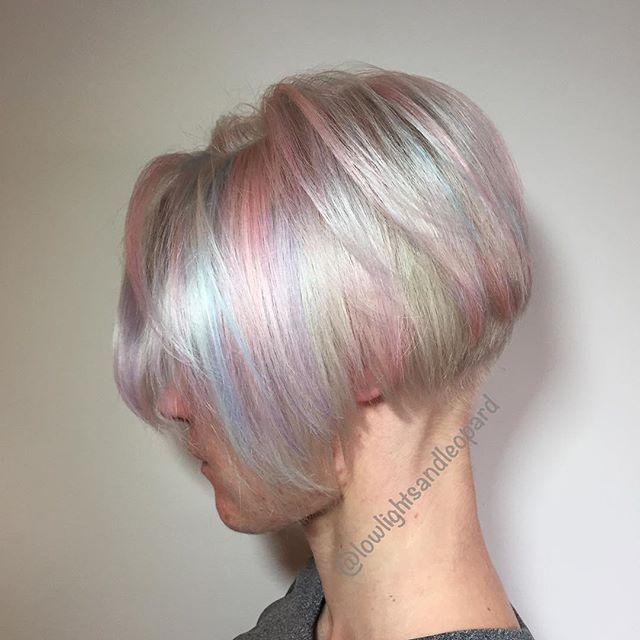 1000 Images About Hair Cuts Colors On Pinterest Opal Hair Rainbow Highlights And Pixie Cuts