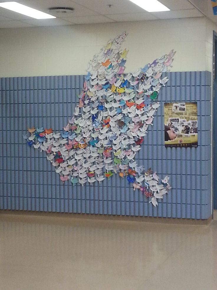Every student created a dove with a message of peace on it. Beautiful!