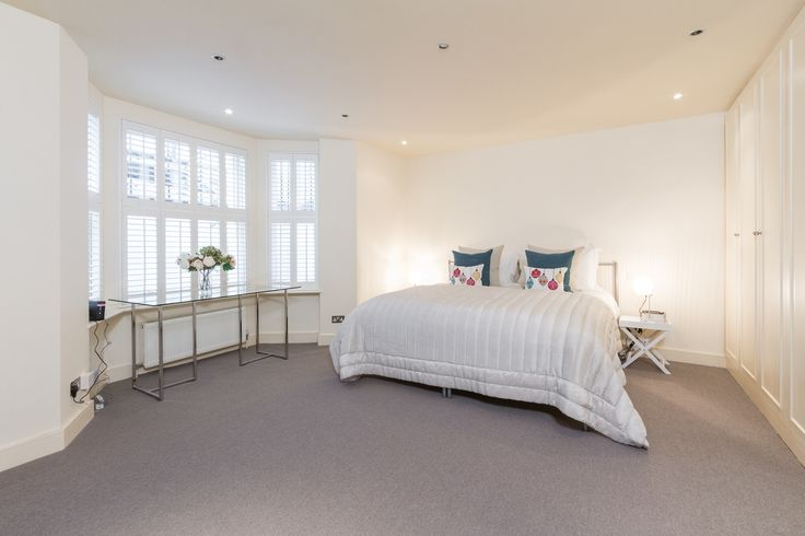 Bedroom basement flat London SW6 #cutlerandbond #basementflat #gardenflat #londonproperty