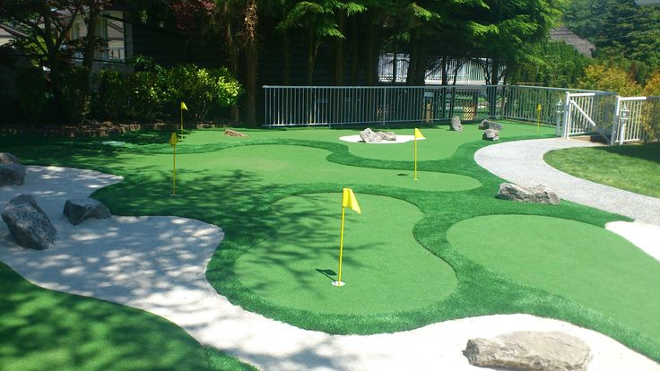 2. You can even turn your backyard into a mini golf course.
