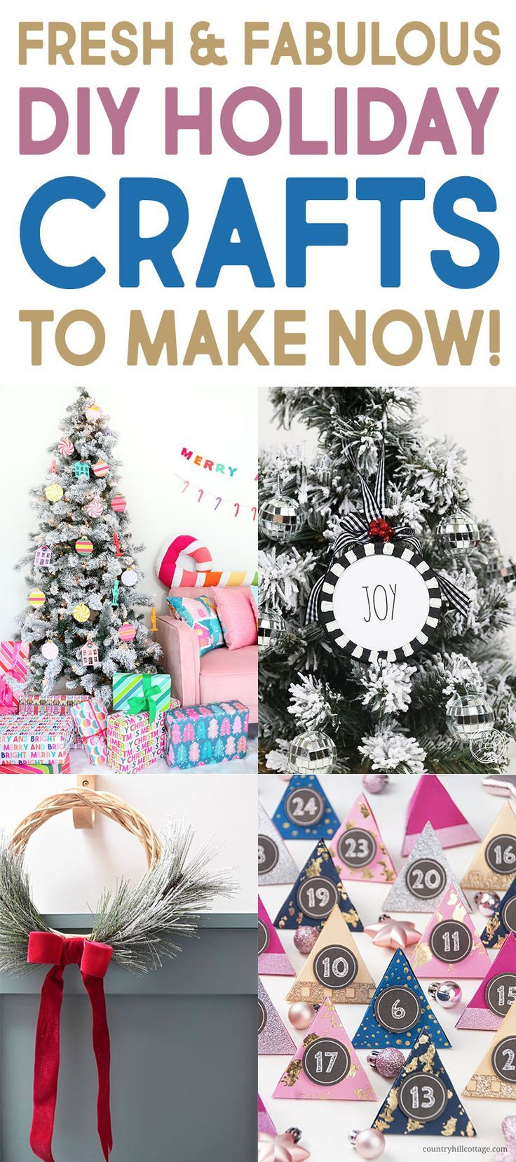 Fresh And Fabulous Diy Holiday Crafts To Make Now The Cottage Market Holiday Crafts Diy Holiday Crafts Diy Teacher Christmas Gifts